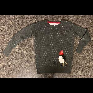 Skating Penguin w/Tiny Hearts Christmas Sweater